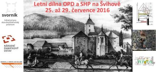Letní dílna OPD a SHP Švihov 2016 - pozvánka